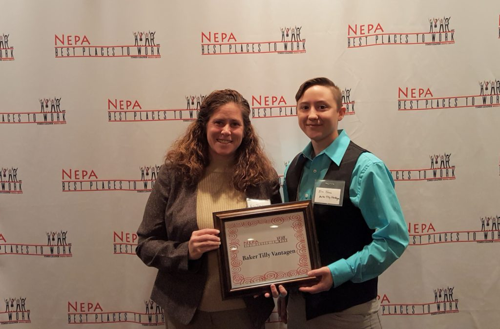 NEPA best places to work award given to Baker Tilly Vantagen by Times Leader