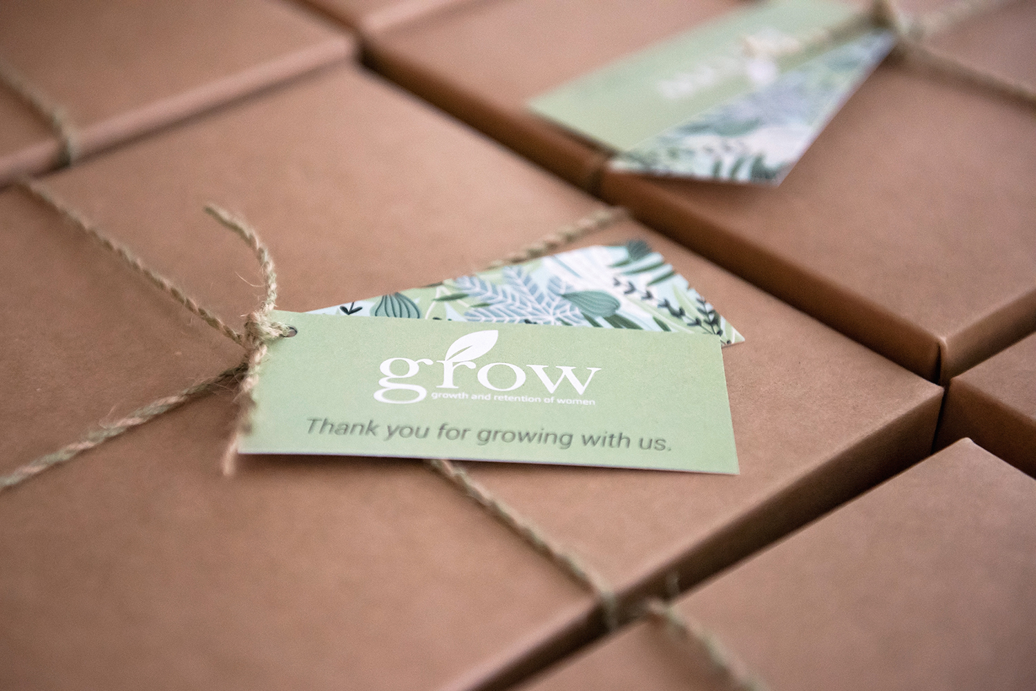 Christine Horton Photography captured an image of the giveaways for Baker Tilly' and Baker Tilly Vantagen's annual GROW event. Gretchen Rubin spoke at the event.